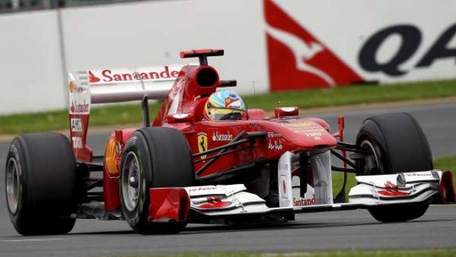 El piloto español de Fórmula 1 Fernando Alonso, de Ferrari.