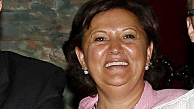 Foto de archivo de 2007 de la concejala de IU en el Ayuntamiento de Madrid Milagros Hernández junto al portavoz de esa formación política, Ángel Pérez.