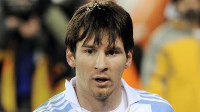 El jugador argentino Lionel Messi.