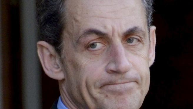 Sarkozy, durante una reunión este lunes.