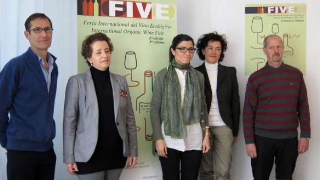Presentación de la II Feria Internacional de Vino Ecológico en Pamplona.
