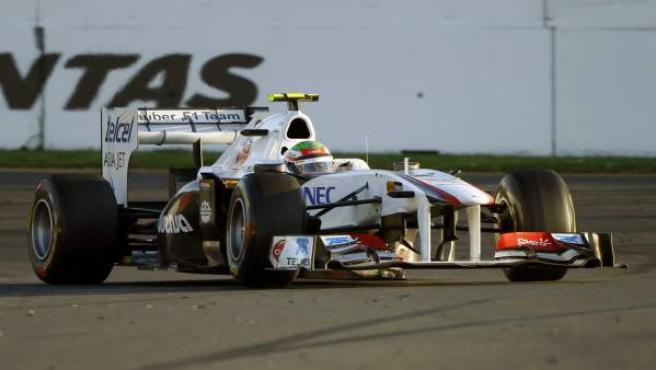 El piloto de Sauber Sergio Pérez, en Australia.