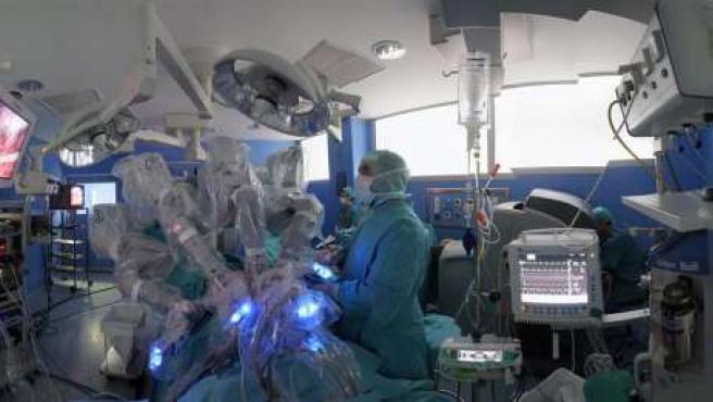 cirugía de próstata con robot de youtube