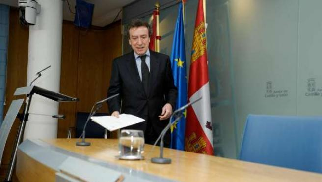 De Santiago-Juárez, durante la rueda de prensa posterior al Consejo.