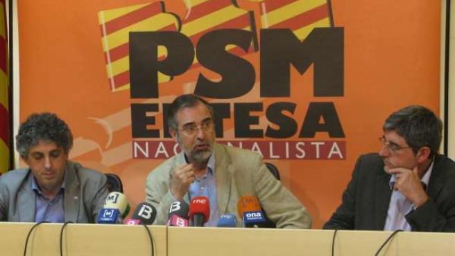 Xosé Manuel Pérez, Pere Sampol y Gabriel Vicens