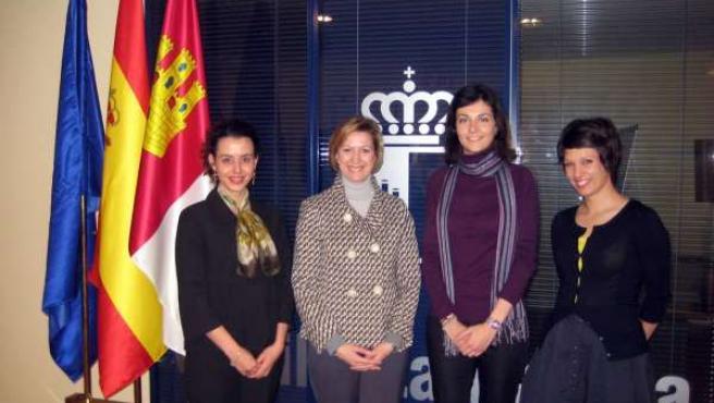 Arújo en la Oficina de C-LM en Bruselas