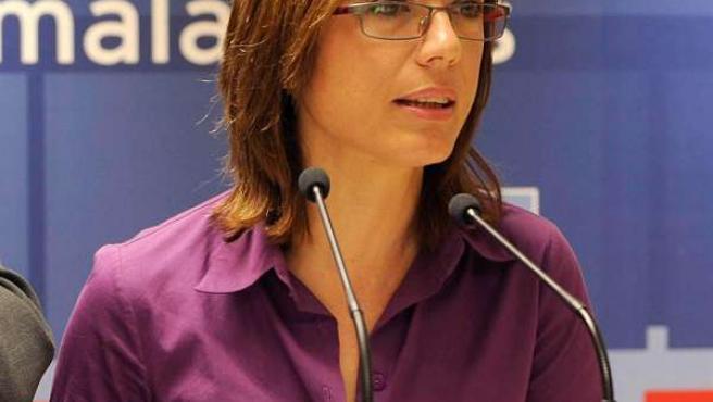 La candidata del PSOE a la Alcaldía de Málaga, María Gámez