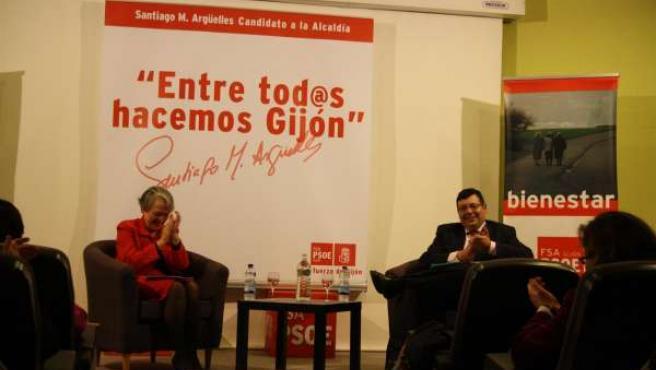 El candidato socialista a la Alcaldía de Gijón, Martínez Argüelles
