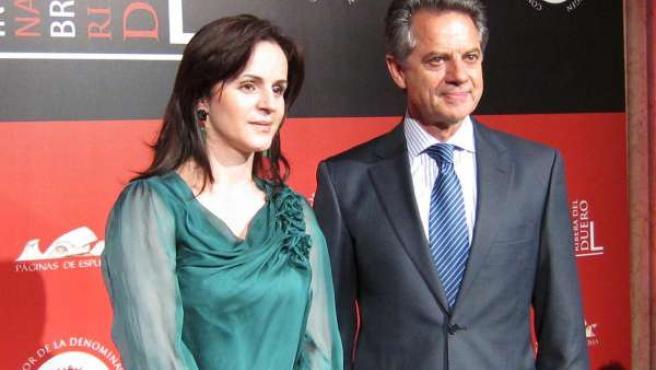 La consejera de Agricultura, Silvia Clemente, y el presidente de Ribera del Duer