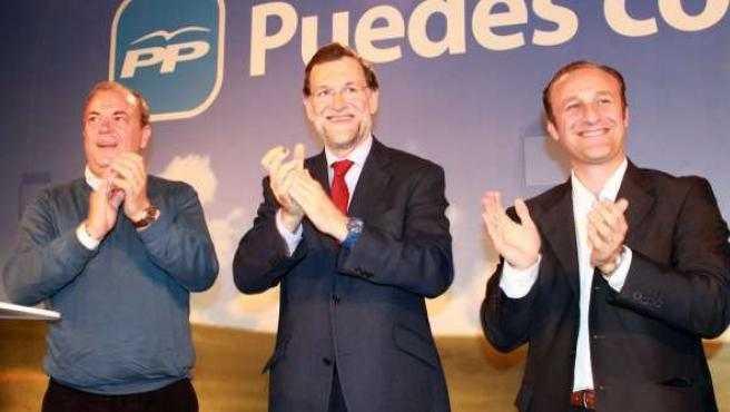 Monago, Rajoy y García Lobato