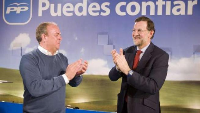 Rajoy y Monago en Almendralejo