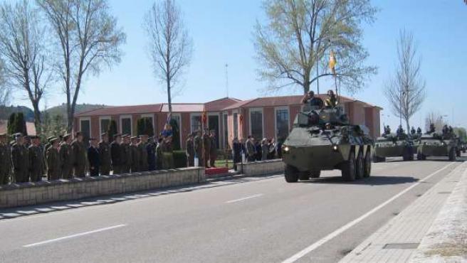 Desfile del Grupo de Caballería de Reconocimiento 'Santiago' VII de la Brilat du
