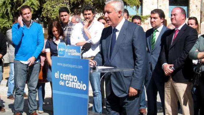 El presidente del PP de Andalucía, Javier Arenas