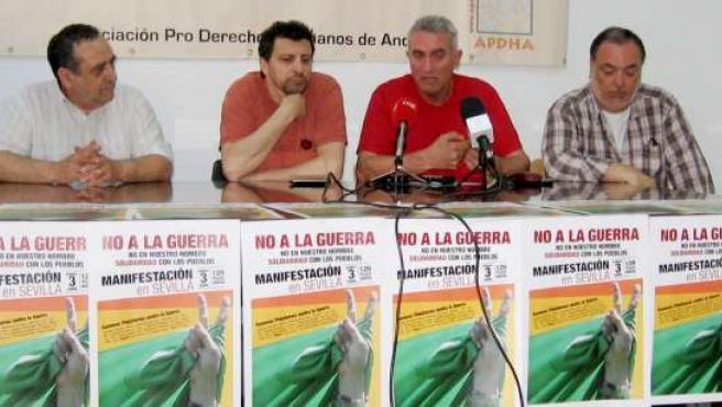 Rueda de prensa prensentación de la manifestación contra la guerra