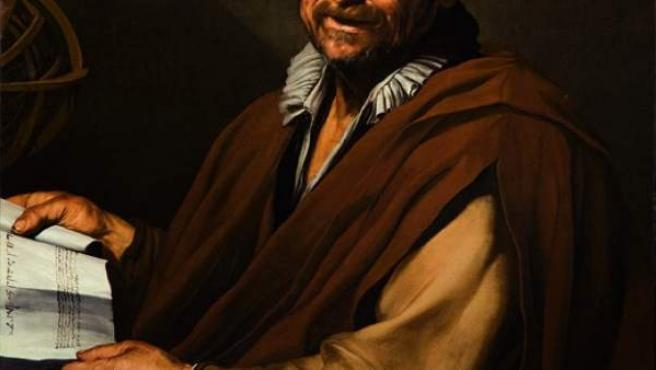 'Demócrito', de José de Ribera. Óleo sobre lienzo, 120 x 90 cm. 1615 - 1616.