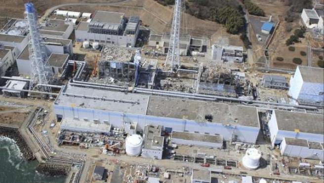 Vista aérea de la central nuclear de Fukushima, en Japón.