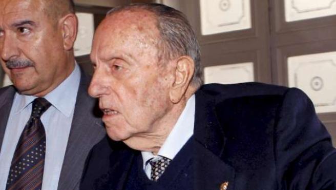 El senador del PP Manuel Fraga, en una fotografía de archivo.