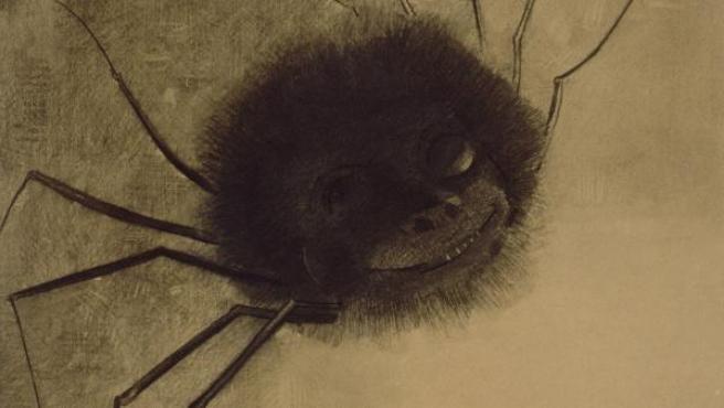Uno de los dibujos de la etapa sombría de Odilon Redon