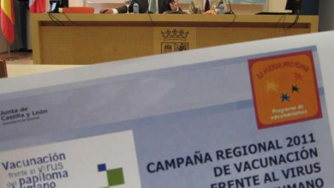 Presentación de la campaña de vacunación frente al papiloma humano.