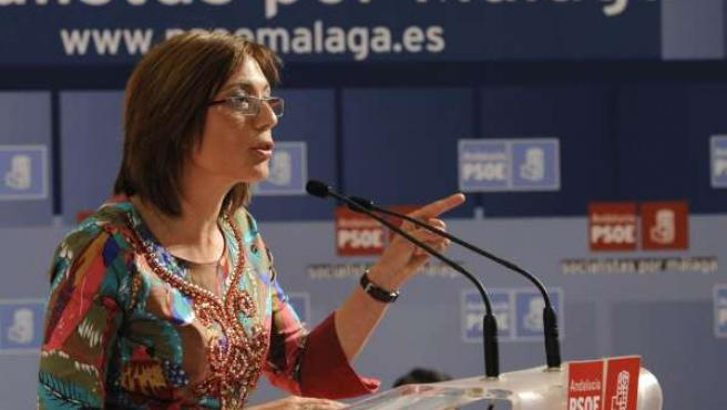 La candidata del PSOE a la Alcaldía, María Gámez, en un acto