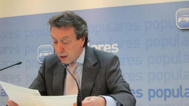 José Antonio De Santiago-Juárez En La Sede Del PP