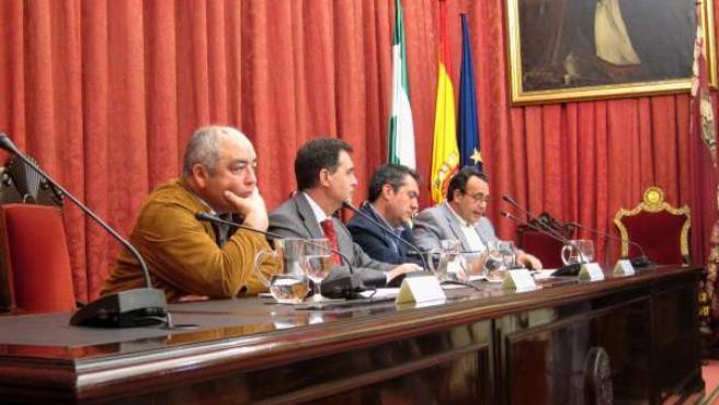 Manuel Pastrana, Joaquín Luque, Juan Espadas, y Juan Antonio Gilabert.