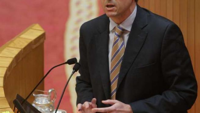 O Conselleiro De Presidencia Interven No Pleno Do Parlamento