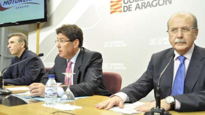Arturo Aliaga, Antonio Gasión Y Jaime Alguersuari, De Motorland.
