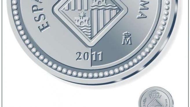 Ejemplar De Una Moneda De Colección De La Ciudad De Palma