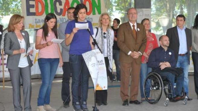 El Alcalde De Málaga En El Acto Central De La Campaña Mundial Por La Educación