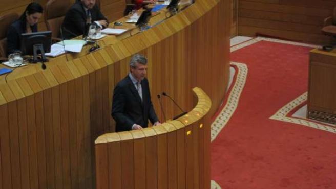 Alfonso Rueda En El Pleno Del Parlamento