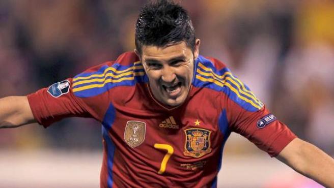 El delantero de la selección española, David Villa.