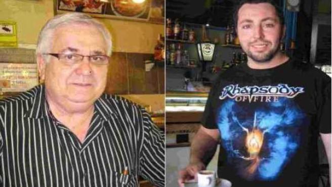 Pepe Palmeiro, dueño del Bar Pepe, y Toni Micol, camarero de la cervería Napoleón.