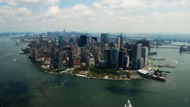 Vista aérea de Manhattan, Nueva York.
