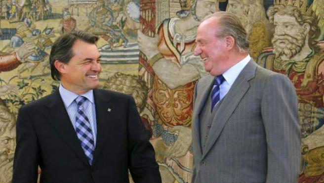 El Rey y el presidente de la Generalitat, Artur Mas.