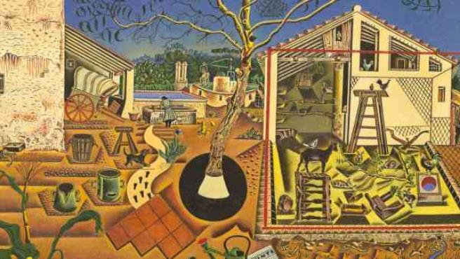Cuadro temprano de ambiente rural de Joan Miró. Su propietario fue el escritor Ernest Hemmingway.