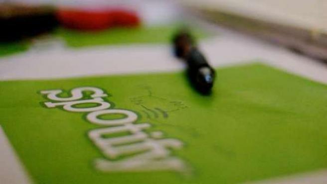 Logotipo de Spotify.