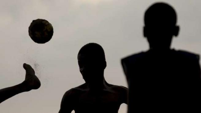 Niños haitianos.