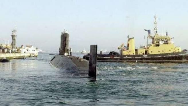 El submarino nuclear británio HMS Tireless.