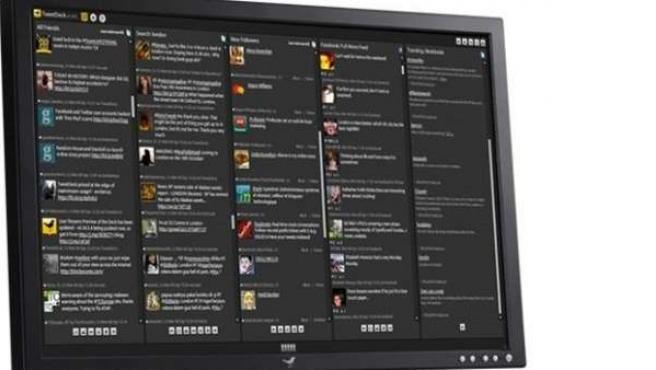TweetDeck en un monitor.