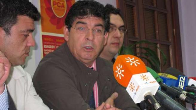 El coordinador general de IU en Andalucía, Diego Valderas