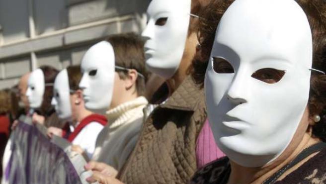 Imagen de archivo de una concentración silenciosa para protestar contra la violencia machista.