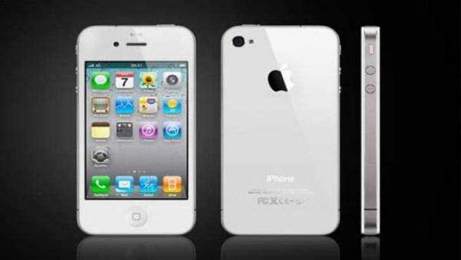 El móvil iPhone en su modelo de color blanco