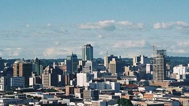 Vista de la ciudad de Harare, capital de Zimbabue.