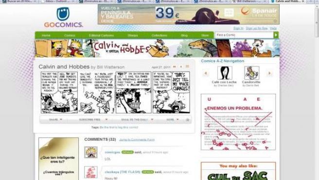 Una tira de Calvin & Hobbes.