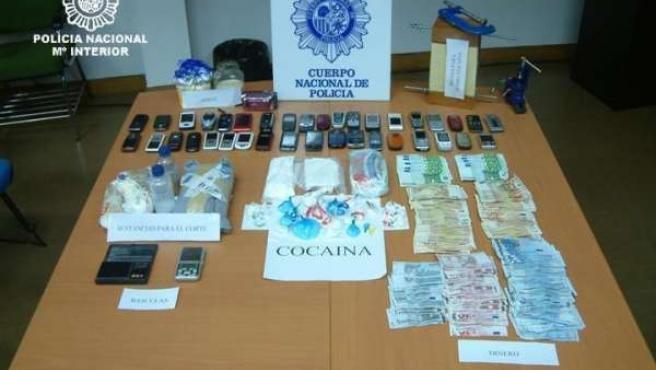 Opreación contra el tráfico de cocaína