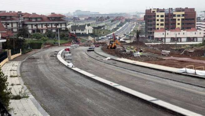 Obras del vial que conectará la S-10 y la S-20, en Santander
