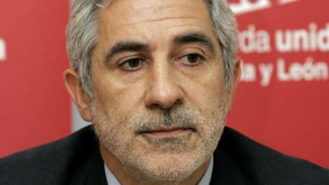 El Portavoz De IU En El Congreso De Los Diputados, Gaspar Llamazares, En León