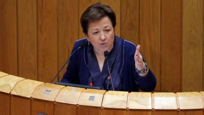 A conselleira de Sanidade, Pilar Farjas Abadía