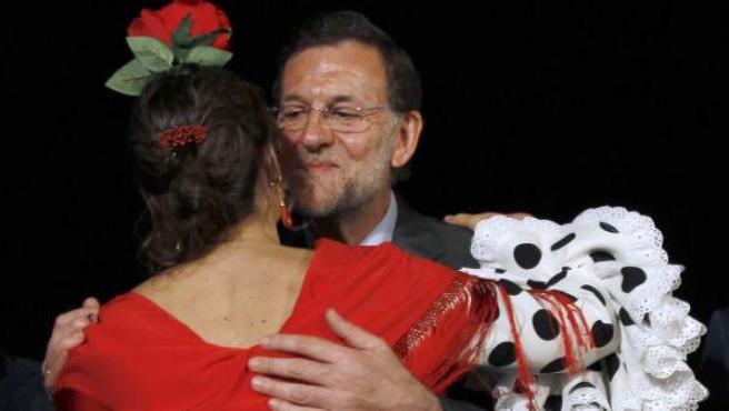 Mariano Rajoy inició la campaña electoral en Sevilla.